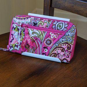 Vera Bradley Very Berry Paisley Zip-Around Wallet
